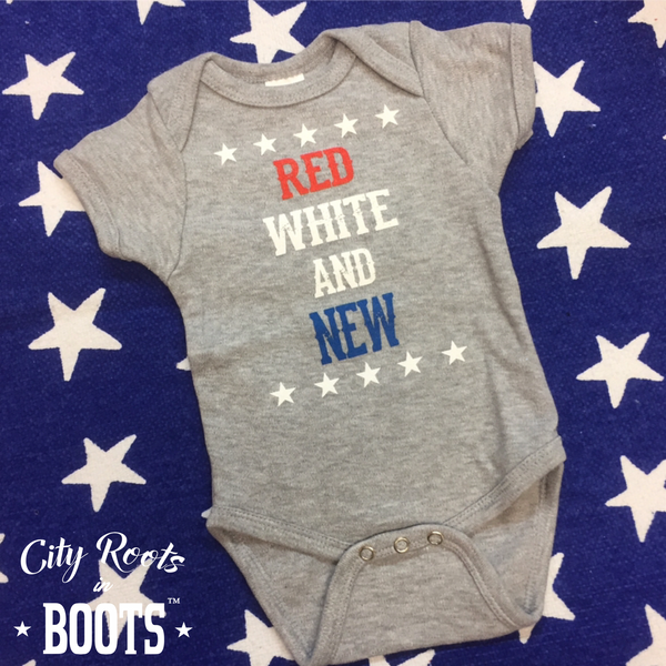 """Red White and New"" Unisex Onesie"