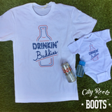 Drinkin' Buddies White Unisex Onesie