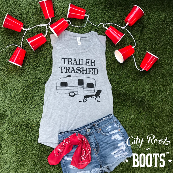 """Trailer Trashed"" Women's Tank"