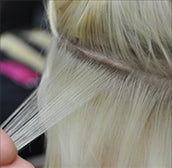 wasp tape hair extensions - sectioning
