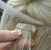 wasp tape hair extensions apply tape under