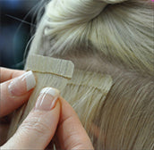 wasp tape hair extensions apply tape over