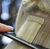 wasp tape hair extensions application sandwich