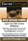 Farm Fromage Beer Washed Tomme (8oz)