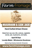 Farm Fromage Mushroom and Leek Jack (8oz)