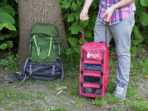 """The Grab and Go"" - PACK Gear Backpack Organizer With Clips (Red) - PACK Gear  - 7"