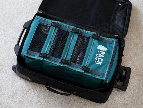 """The Grab and Go"" - PACK Gear Backpack Organizer With Clips (Teal) - PACK Gear  - 7"