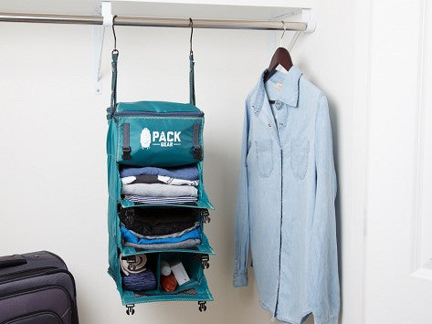 """The Grab and Go"" - PACK Gear Backpack Organizer With Clips (Teal) - PACK Gear  - 8"