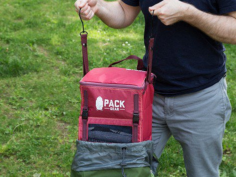 """The Grab and Go"" - PACK Gear Backpack Organizer With Clips (Red) - PACK Gear  - 8"