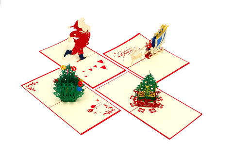 Holiday Bundle (Set Of 4) (Handmade, Pop-Up) - From Vietnam