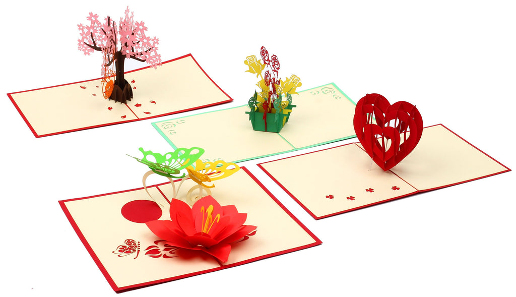 Love and Romance Bundle (Set Of 4) (Handmade, Pop-Up) - From Vietnam
