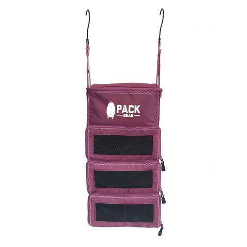 Backpack and Carry-On Organizer With Zipper Closures (Purple)