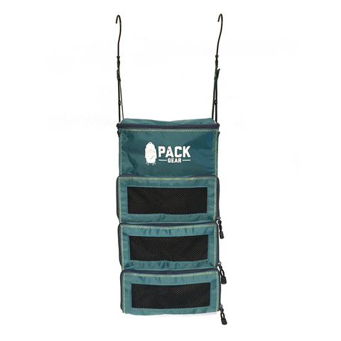 Backpack and Carry-On Organizer With Zipper Closures (Teal)