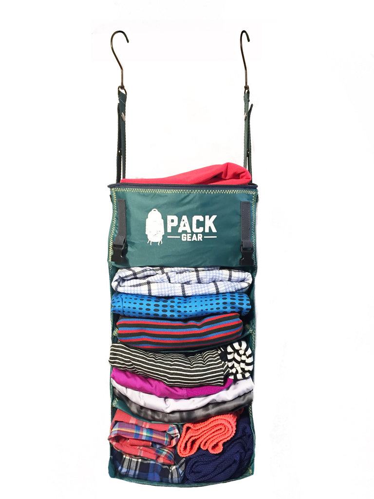 """The Grab and Go"" - PACK Gear Backpack Organizer With Clips (Teal) - PACK Gear  - 2"