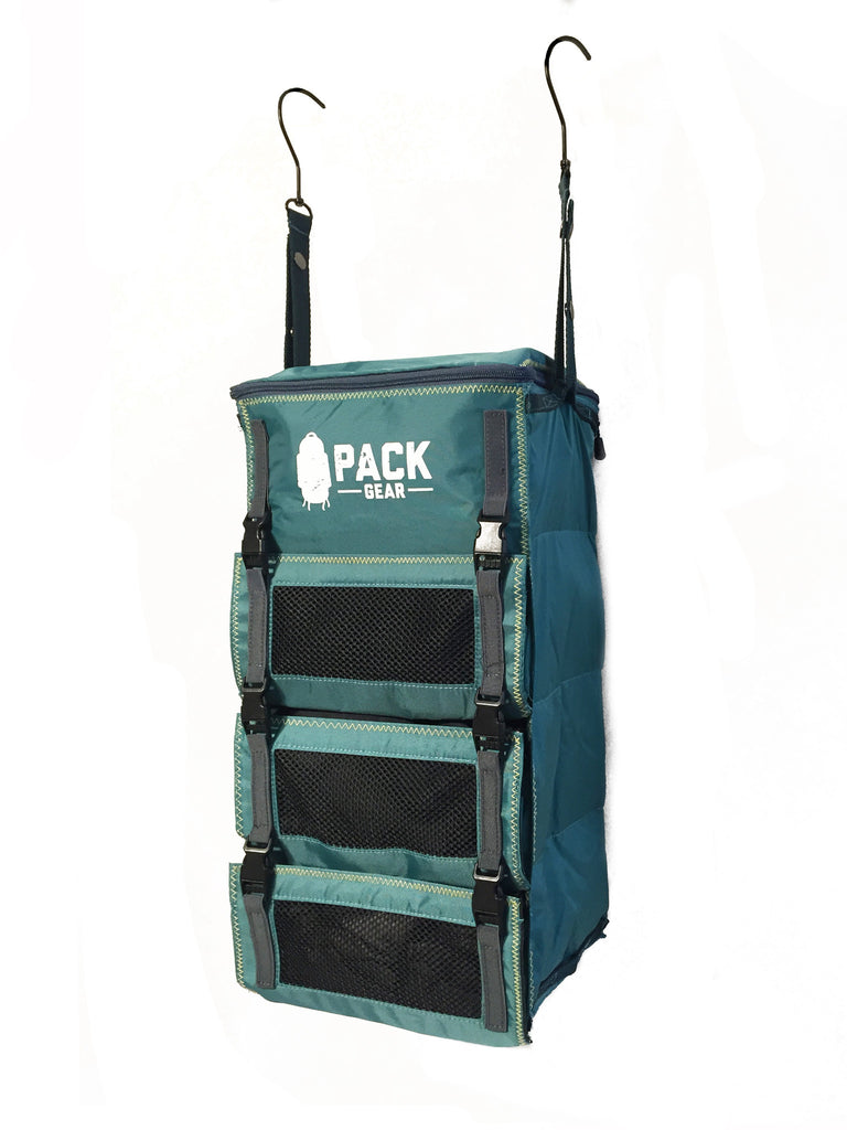 """The Grab and Go"" - PACK Gear Backpack Organizer With Clips (Teal) - PACK Gear  - 6"