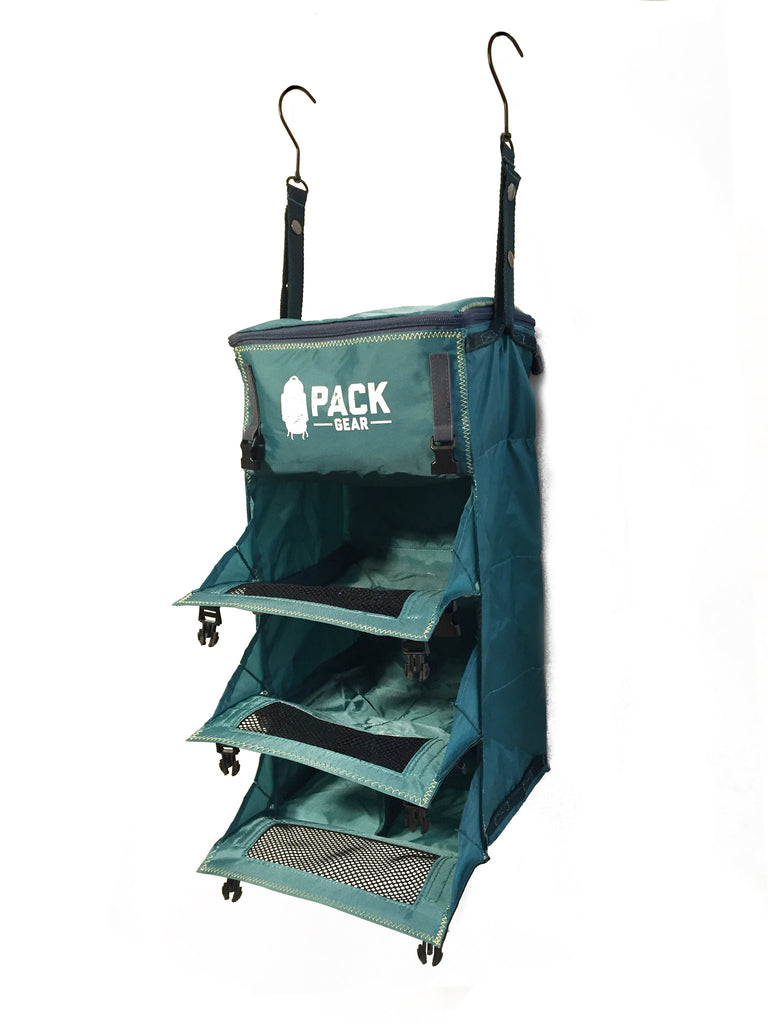 """The Grab and Go"" - PACK Gear Backpack Organizer With Clips (Teal) - PACK Gear  - 3"
