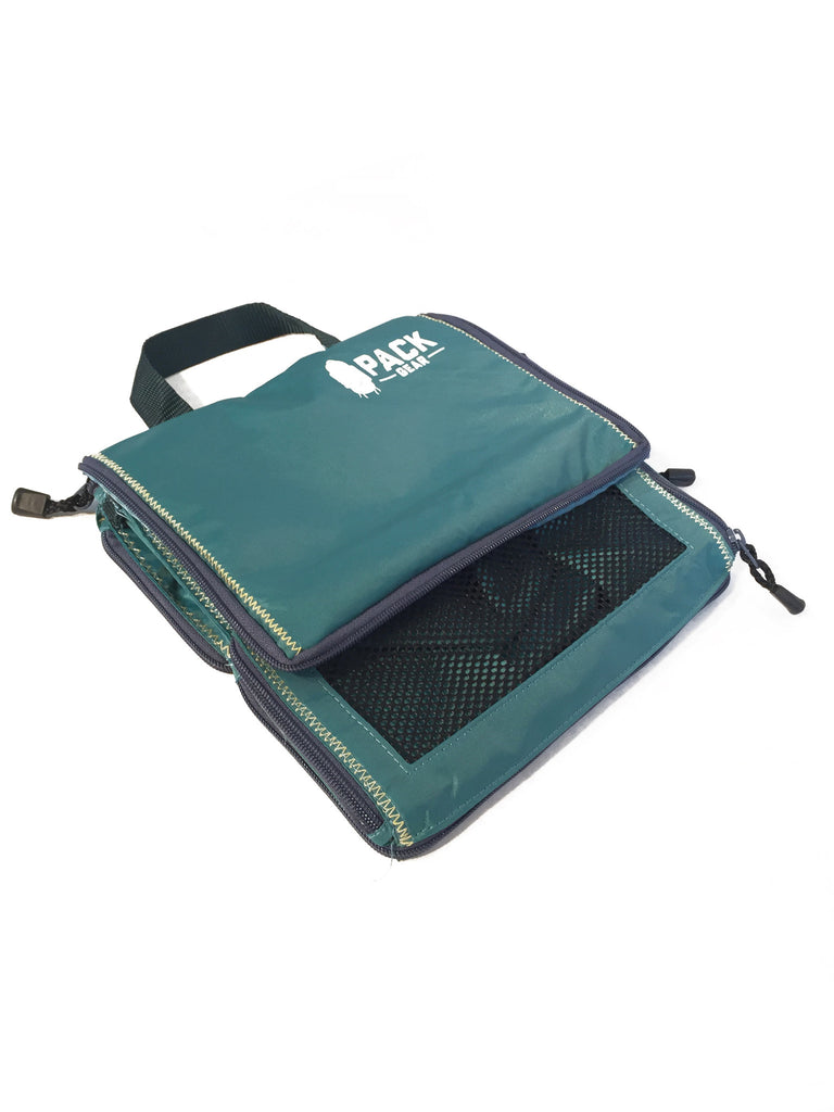 """The Carry-On Traveler"" - PACK Gear Backpack Organizer With Zippers (Teal) - PACK Gear  - 5"