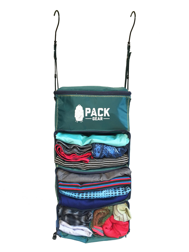 """The Carry-On Traveler"" - PACK Gear Backpack Organizer With Zippers (Teal) - PACK Gear  - 2"