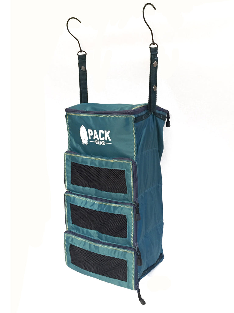 """The Carry-On Traveler"" - PACK Gear Backpack Organizer With Zippers (Teal) - PACK Gear  - 4"
