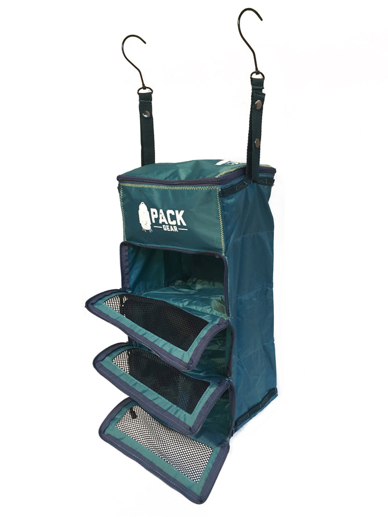 """The Carry-On Traveler"" - PACK Gear Backpack Organizer With Zippers (Teal) - PACK Gear  - 3"