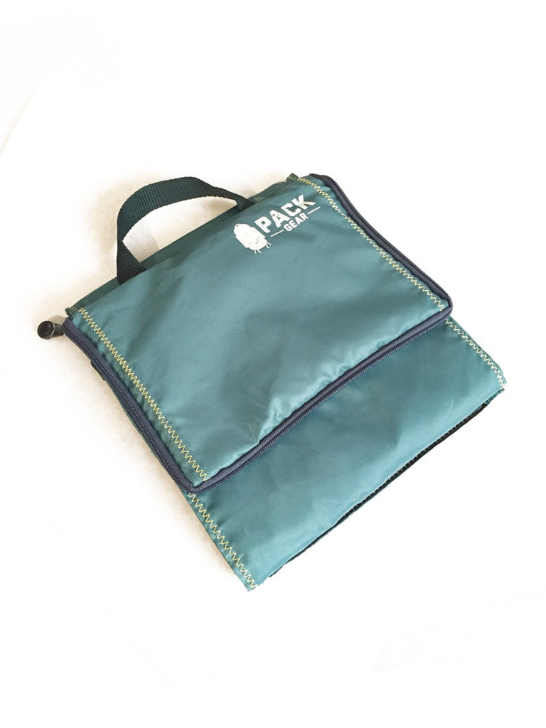 the basics organizer-backpack and carry-on organizer with velcro closures teal-custom designed for PACK gear-4