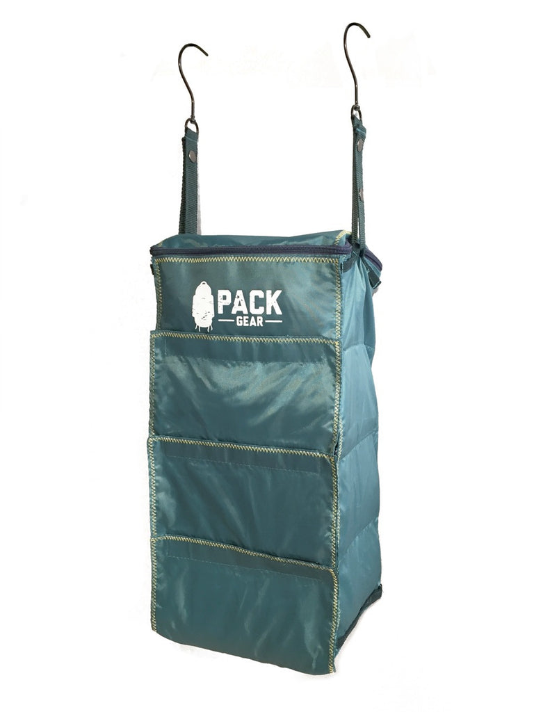 the basics organizer-backpack and carry-on organizer with velcro closures teal-custom designed for PACK gear-5