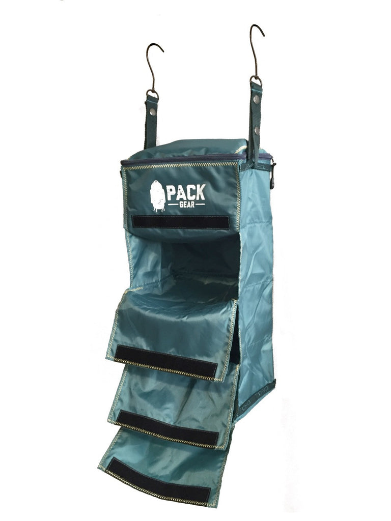 the basics organizer-backpack and carry-on organizer with velcro closures teal-custom designed for PACK gear-3
