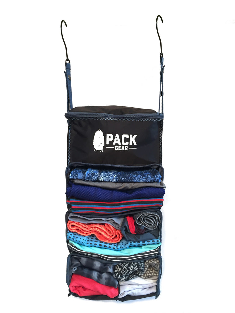 8c29bd3e3921 Backpack and Carry-On Organizer With Zipper Closures (Black)