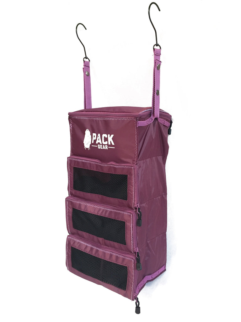 """The Carry-On Traveler"" - PACK Gear Backpack Organizer With Zippers (Purple) - PACK Gear  - 5"