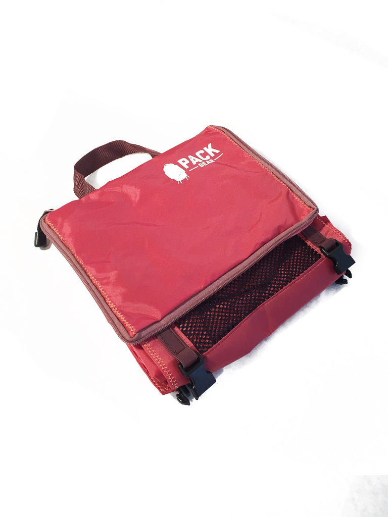 """The Grab and Go"" - PACK Gear Backpack Organizer With Clips (Red) - PACK Gear  - 3"