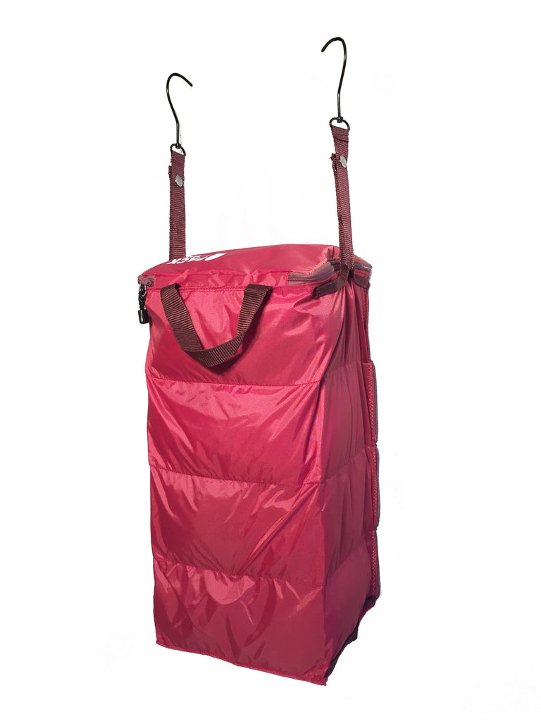 """The Carry-On Traveler"" - PACK Gear Backpack Organizer With Zippers (Red) - PACK Gear  - 5"
