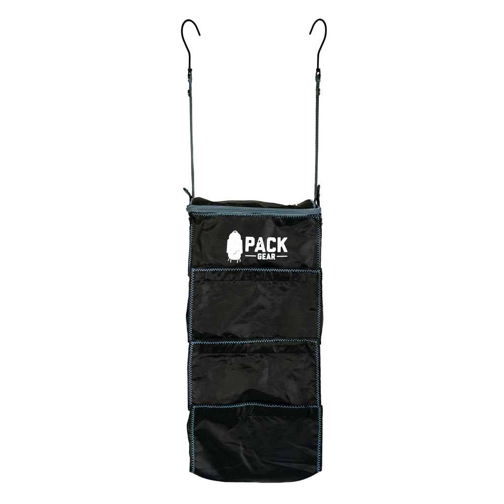 the basics organizer-backpack and carry-on organizer with velcro closures black-custom designed for PACK gear-1