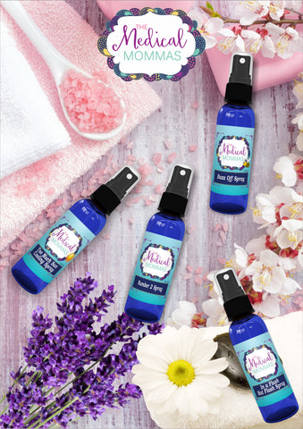 Sprays made from essential oils