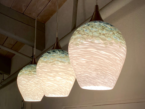 Large Sky Blue Pendant Shades