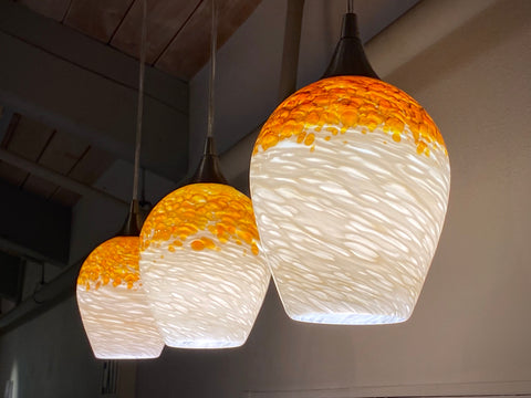 Medium Butterscotch Pendant Shades