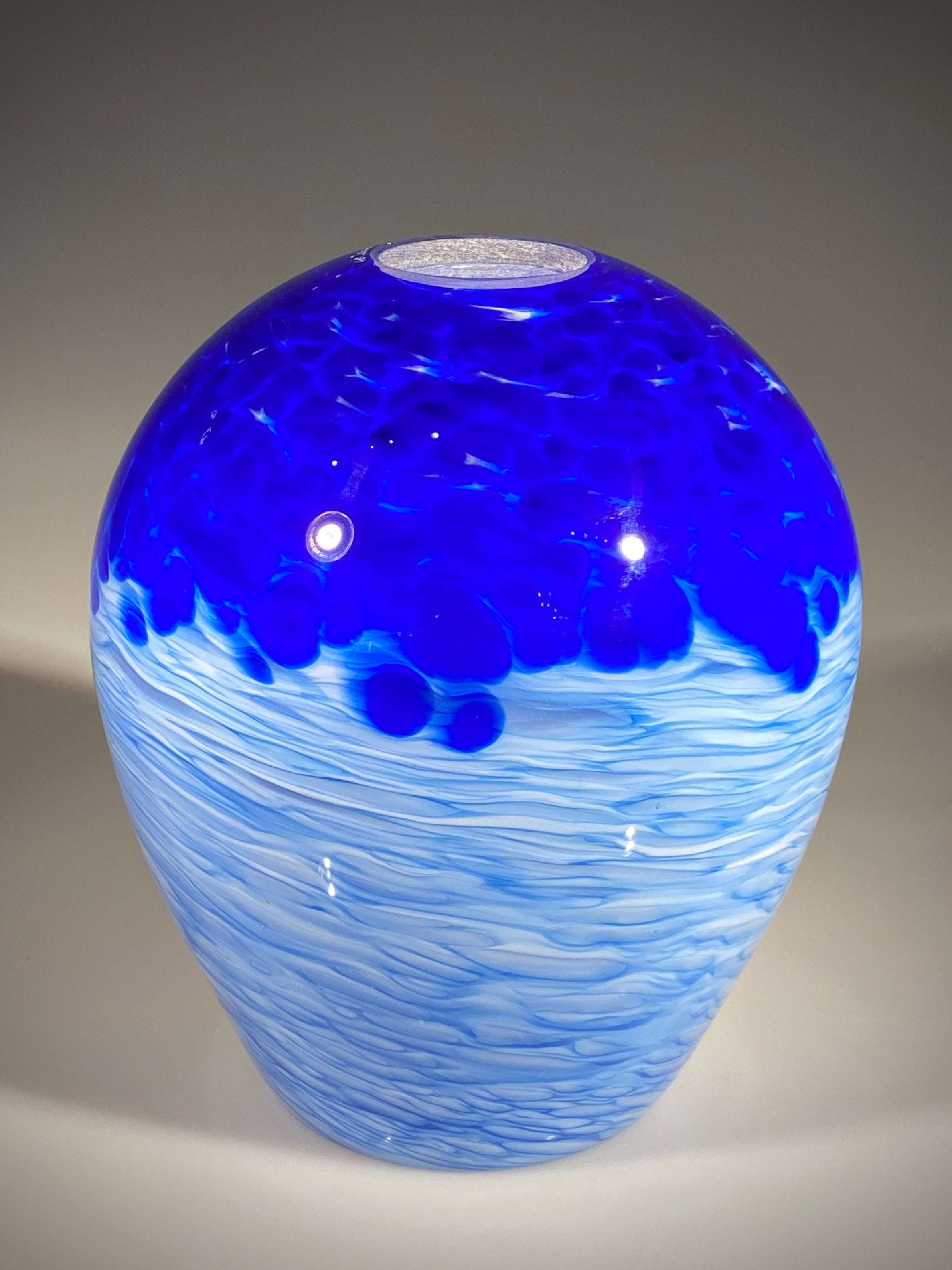 Large Cobalt Clouds Pendant Shade