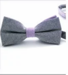 Purple On Gray Pre Tied