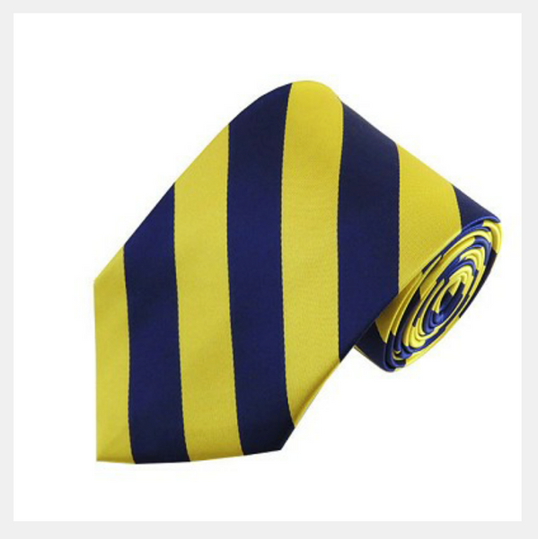 blue & gold varsity striped tie