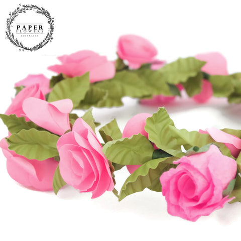 Childs Flower Crown- Hot Pink