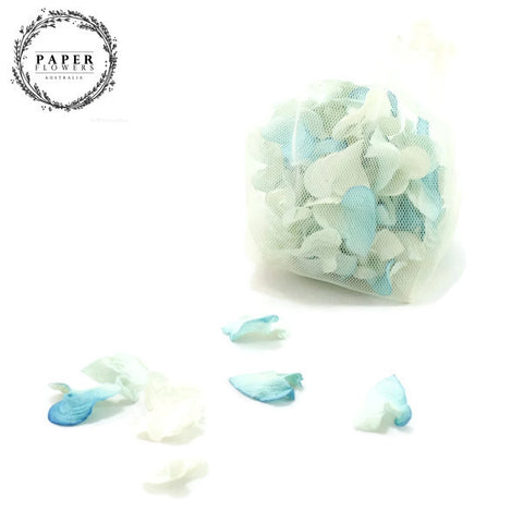 Paper Rose Petals- Blue White