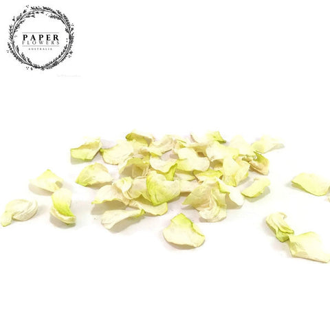 Paper Rose Petals- White/cream