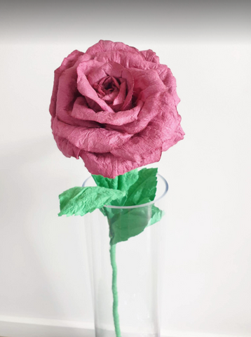 Paper Rose - Maroon (Medium)
