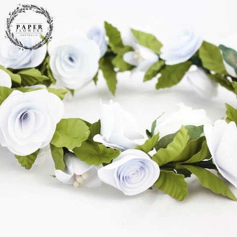 Products paper flowers australia childs flower crown white mightylinksfo