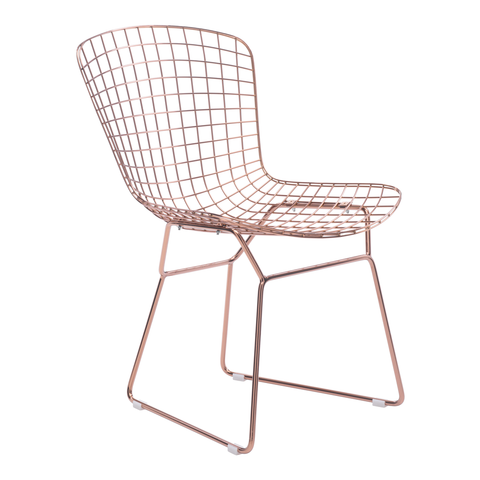 WIRE Dining Chair | Rose Gold - Set of 2