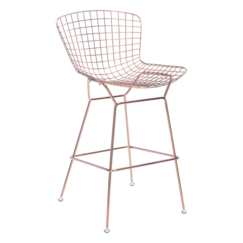 WIRE Bar Stool | Rose Gold