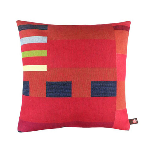 GEOMETRIC Pillow | Red with Dotted Lines