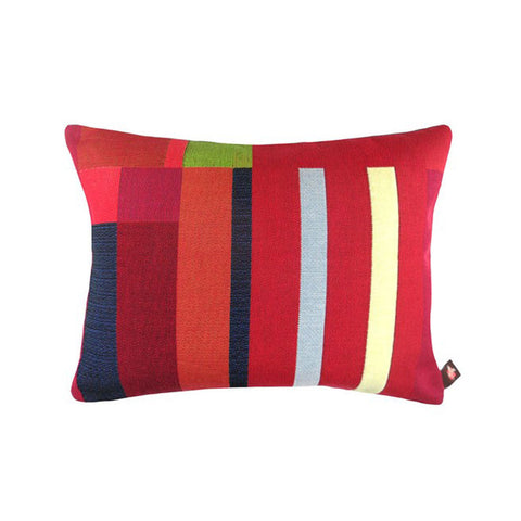 GEOMETRIC Lumbar Pillow | Red Abstract