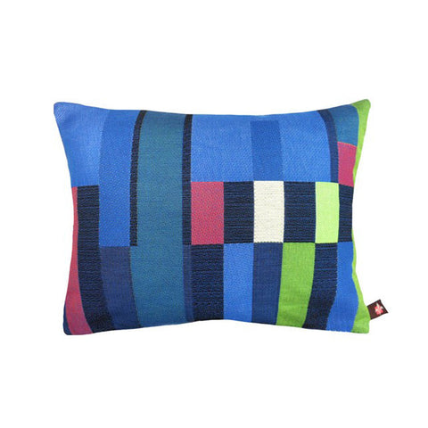 GEOMETRIC Lumbar Pillow | Blue Abstract