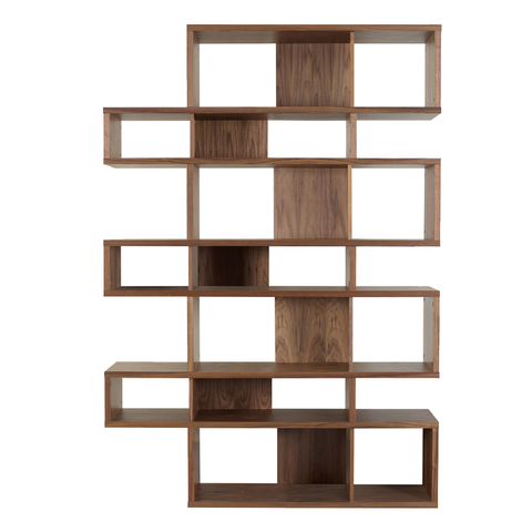 LONDON COMPOSITION High Bookcase | Walnut