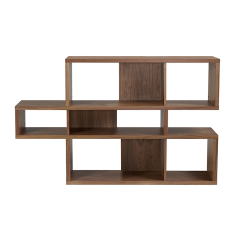 LONDON COMPOSITION Low Bookcase | Walnut